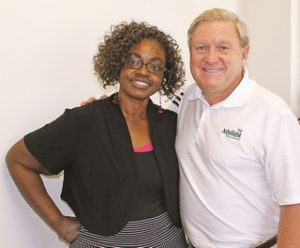 Lesle Covington is executive director of the Carying Place, a non-profit dedicated to working with homeless families to help them escape poverty and achieve independence through mentoring, that is aided by donations from Atlantic Tire Owner Anthony Blackman.