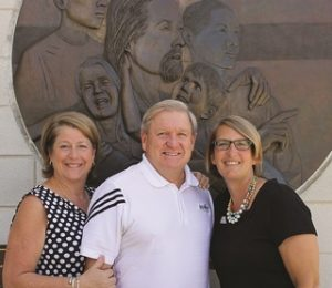 Beth and Anthony Blackman meet with Diane Hillsgrove, executive director of the YMCA's Camp Seafarer in Arapahoe, N.C.